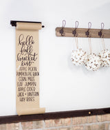 Small Hanging Note Roll-Farmhouse Living - Farmhouse Decor
