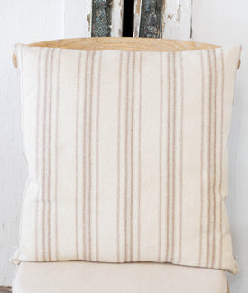 Tan Stripe Grainsack Pillow-Farmhouse Living - Farmhouse Decor