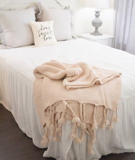 Trestles Oversized Throw in Blush-Farmhouse Living - Farmhouse Decor