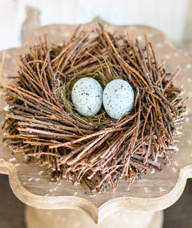 Twig and Straw Birds Nest-Farmhouse Living - Farmhouse Decor