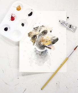 Watercolor Pet Portrait Class—August 4-Farmhouse Living - Farmhouse Decor