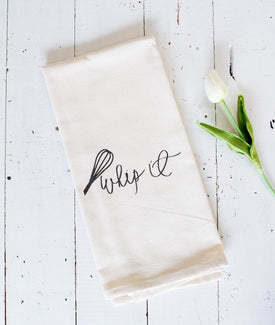 Whip It Tea Towel-Farmhouse Living - Farmhouse Decor
