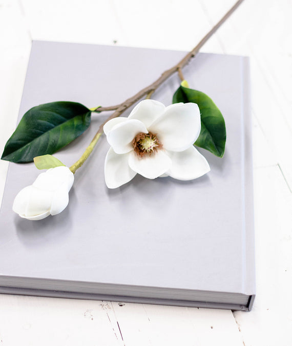 White Real Touch Magnolia-Farmhouse Living - Farmhouse Decor