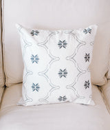 Wildflower Jasmin Grey Pillow-Farmhouse Living - Farmhouse Decor