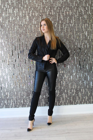 Holly Black Suede Jacket by LaMarque Front View