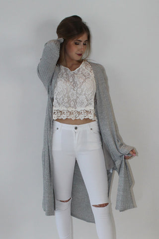Romina Grey Cardigan