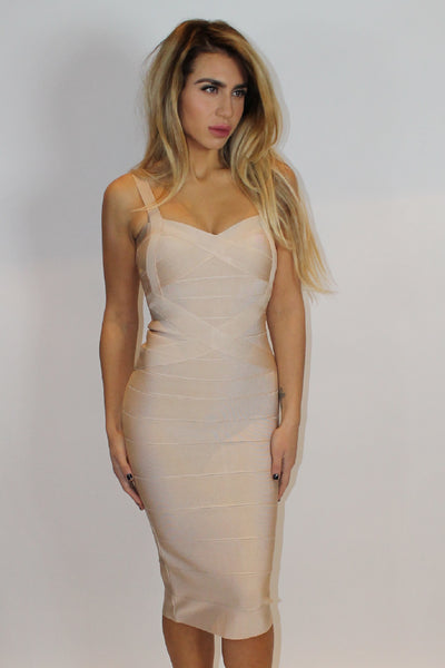 Serena BodyCon Nude Dress