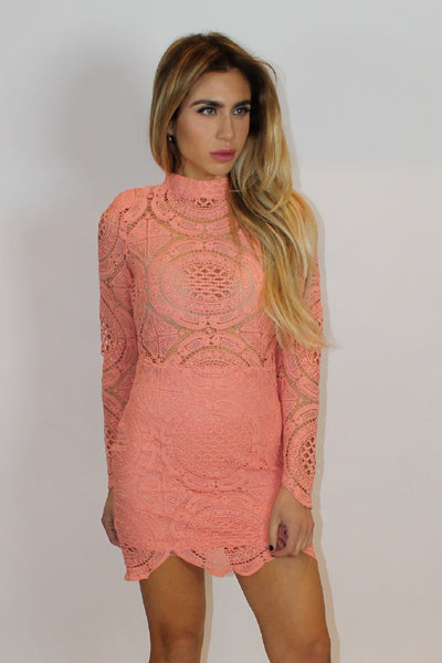 Coralisa Coral Lace Dress