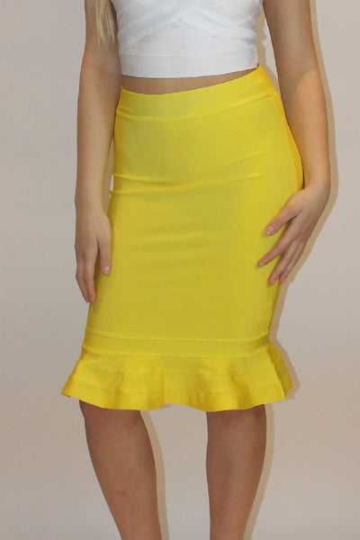 Willow Peplum Bandage Skirt