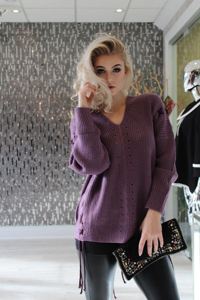 Purple Delayney Sweater