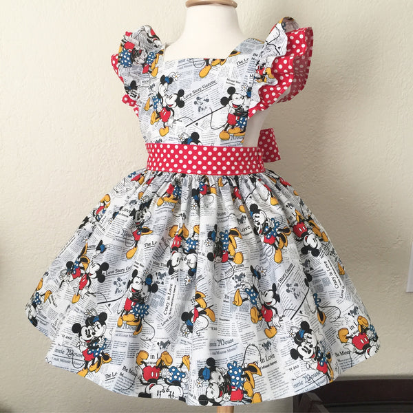 Minnie & Mickey Love Pinafore Dress