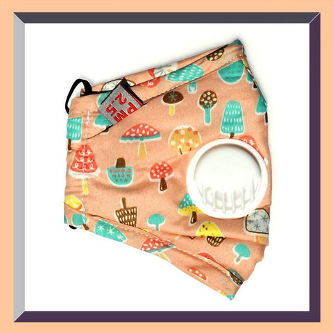 Image of Child's Classic Cloth Mask with Exhalation Valve & Replaceable Filter