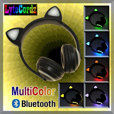 Light Up Cat Ear Headphones