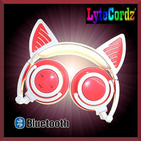 Image of Light Up Cat Ear Headphones