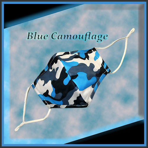 Camouflage Design - Cloth Protective Face Mask with Ear Straps - Multiple Colors