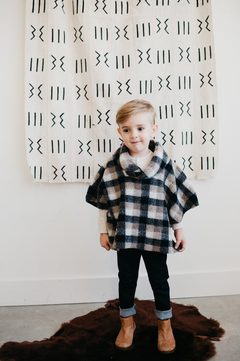the Poncho in Sherpa (One left: Size 3-6 Months)