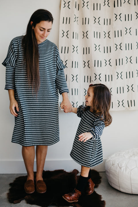 the Woman's Gingham Dress