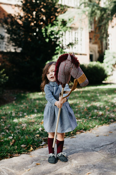 Autumn: the Stick Horse in Maroon
