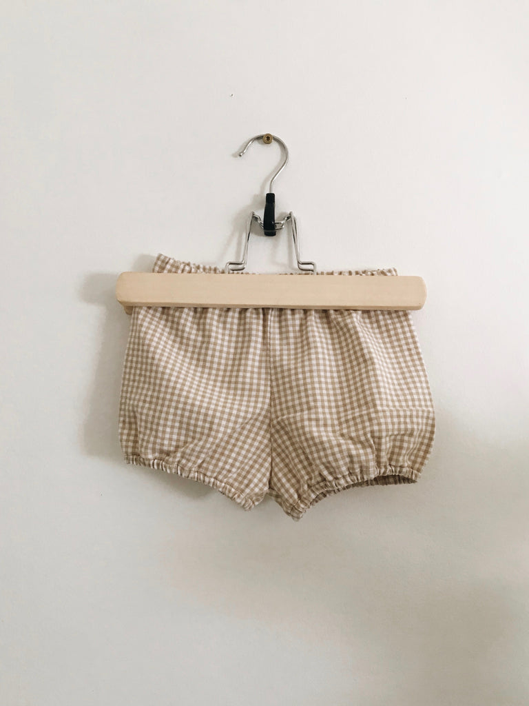 the Bloomers Tan Micro Gingham