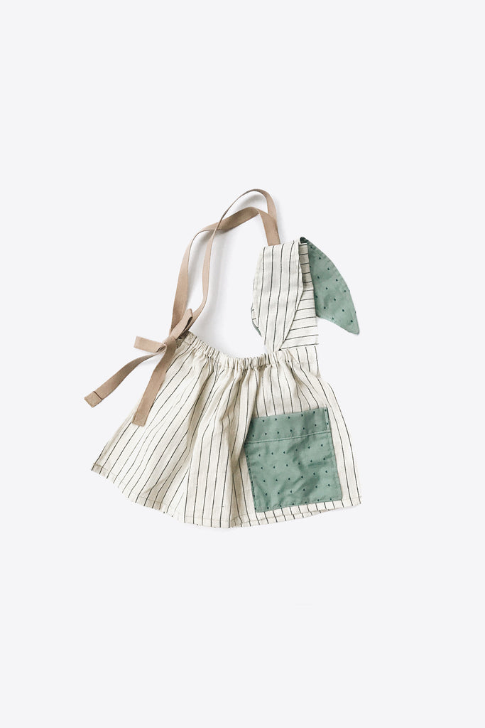 the Bunny Apron in Pinstripes