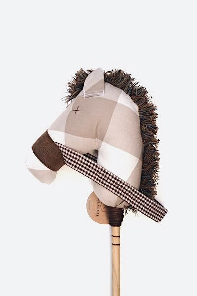 Domino: the Stick Horse in Oversized Plaid