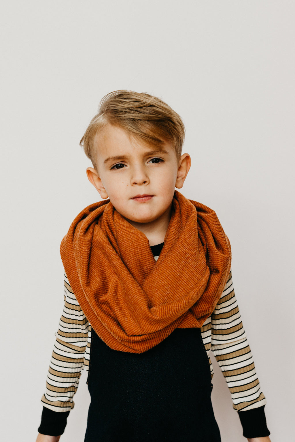 the Circle Scarf in Burnt Orange