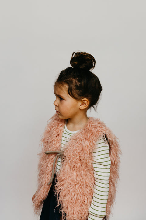 the Fur Vest in Blush