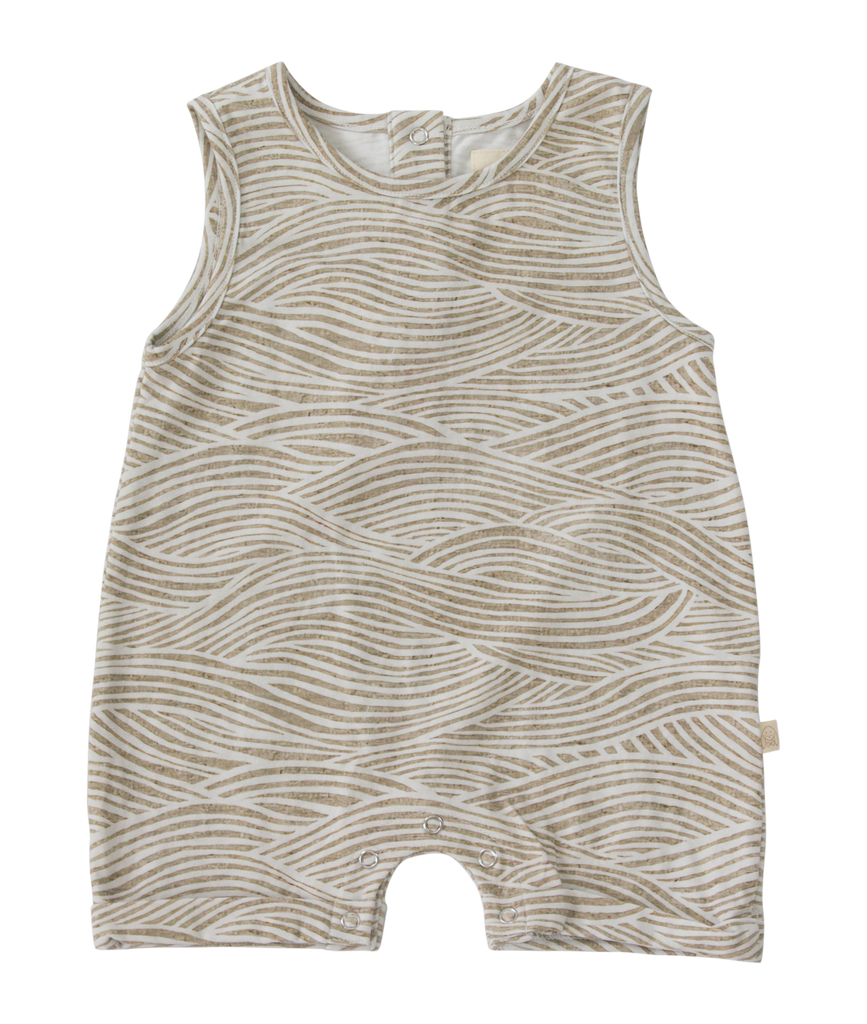 Sully Romper Stone Waves