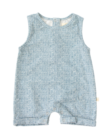 Sully Romper Blue Dashes