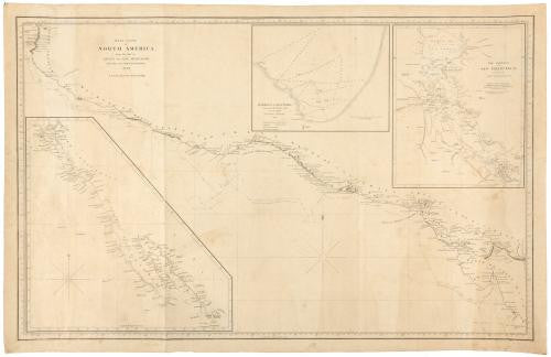 BLUNT, Edmund March (1770-1862) and George William BLUNT. West Coast of North America, from the Gulf of Dulce to San Francisco. New York: E. & G.W. Blunt, 1848.