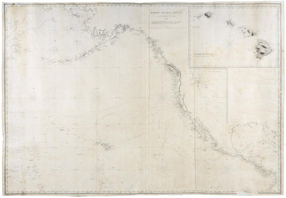 BLUNT, Edmund March (1770-1862) and George William BLUNT. North Pacific Ocean. New York: E. & G.W. Blunt, 1850.