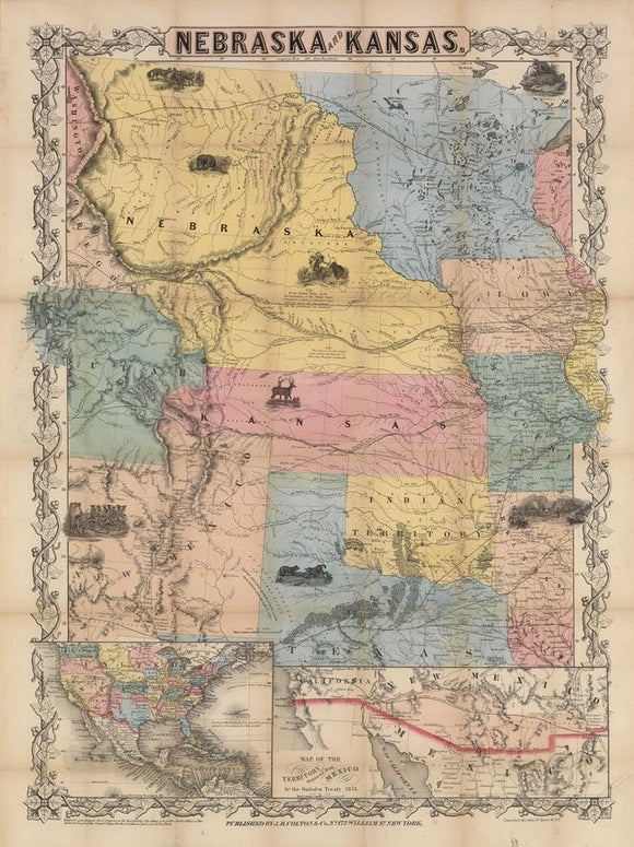 COLTON, Joseph H. (1800-1893).  Nebraska and Kansas.  New York, 1857.