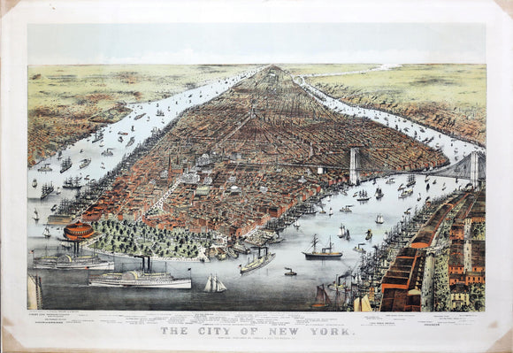 Charles Parsons (1821-1910) & Lyman Atwater (1835-1891) , The City of New York. Published by Currier & Ives, 1876