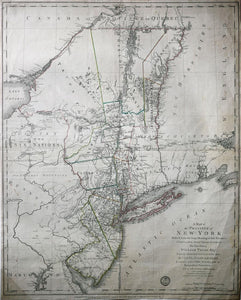 SAUTHIER, Claude Joseph (1736-1802) & RATZER, Bernard (b. 1700).  A Map of the Province of New York...
