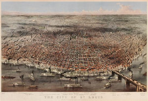 CURRIER AND IVES, publishers (after Charles Parsons and Lyman Atwater) The City of St. Louis
