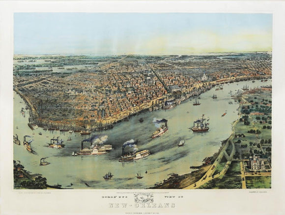 Bachmann, John (1814-1896). Birds eye view of New-Orleans. New York, 1851 (First Edition).