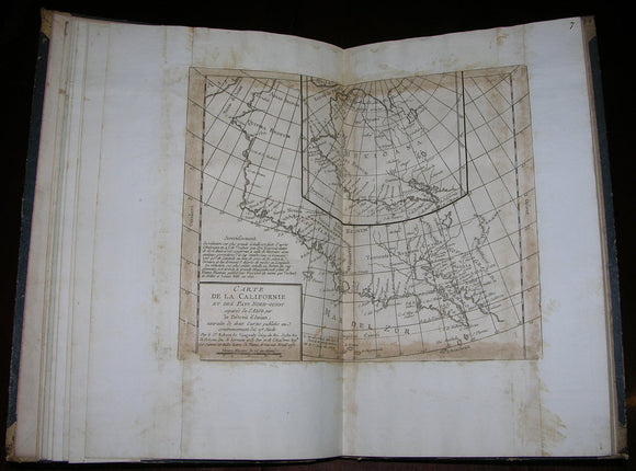 Jean Baptiste Bourguignon d'Anville (1697-1782), Rigobert Bonne (1727-1795), Jacques Nicolas Bellin (1703-1772) et al. COMPOSITE ATLAS OF THE AMERICAS. France: d'Anville et al., early 19th century.