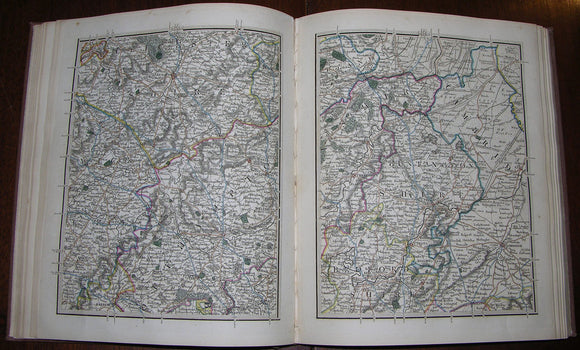 CARY, John (1755-1835). Cary's New Map of England and Wales, with Part of Scotland. [London]: G. & J. Cary, 1822.