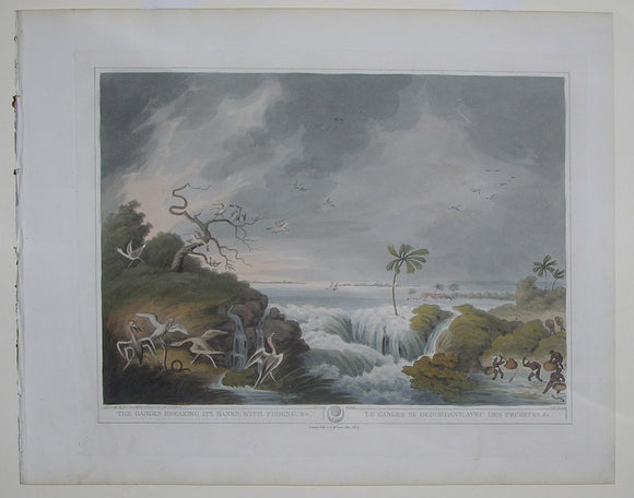 HOWITT, Samuel (1756/7-1822) after Thomas Williamson. The Ganges Breaking its Banks; with Fishing, &c. London: T. McLean, Oct. 1819.