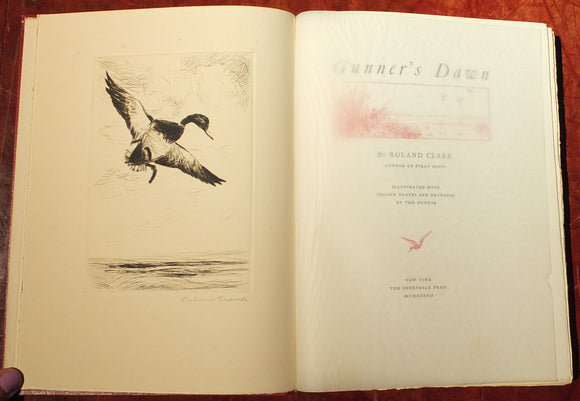 CLARK, Roland (1874-1957). Gunner's Dawn. New York: The Derrydale Press, 1937.