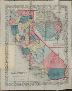 COLTON, Joseph Hutchins (1800-1893). California. New York: J. H. Colton, 1853.