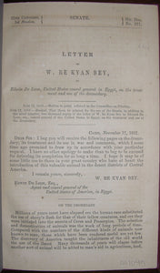 Letter of W. Re Kyan Bey, to Edwin De Leon, United States Consul in Egypt, on the Treatment and Use of the Dromedary