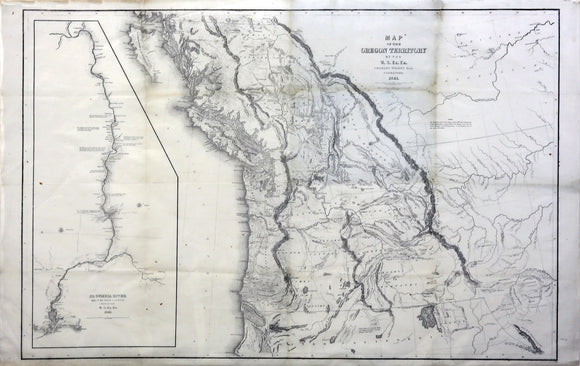 Map of the Oregon Territory by the U. S. Ex. Ex. Charles Wilkes, Esqr Commander, 1841.