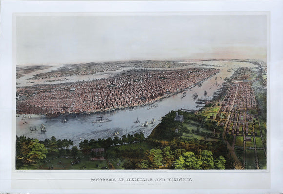 BACHMANN, John (1814-1896).  Panorama of New York and Vicinity.