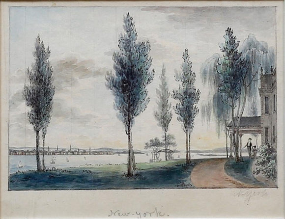 BIRCH, William (1755-1834). View from the Seat of Mr. John Stevens, Hoboken, New Jersey.