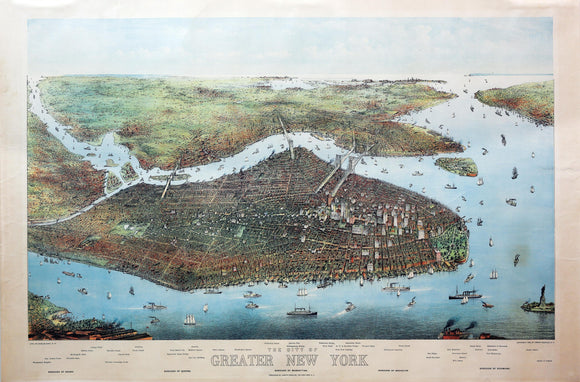 HART, Charles (Late 19th - early 20th century). The city of greater New York.