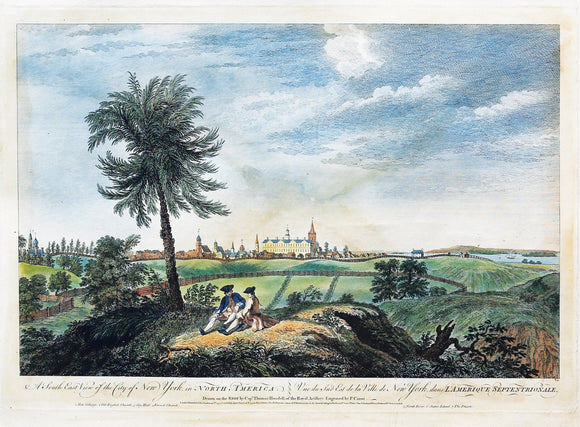 After HOWDELL, Thomas (18th Century) engraved by CANOT, Pierre Charles (1710-1777). A South East View of the City of New York in North America.