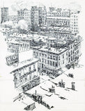 HUARD, Charles (1874-1965). Birds Eye View of 6th Avenue.