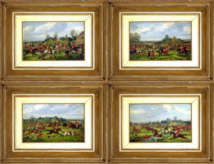 Samuel Alken Jr. (1784 - Ca. 1825), A Set of 4: The Meet; Taking the Fence; Crossing the Brook; Gone to Ground