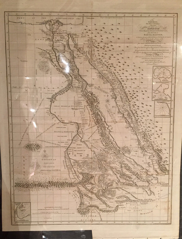 BRUCE, James. To the King, This Map Containing a Chart of the Arabian Gulf etc. London 1790.